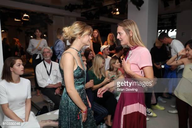 LisaMarie Koroll and Pamina Weiss attend the Prabal Gulung Design show during the MercedesBenz Fashion Week Berlin Spring/Summer 2018 at Kaufhaus...