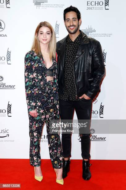 LisaMarie Koroll and Sami Slimani attend the Echo award red carpet on April 6 2017 in Berlin Germany
