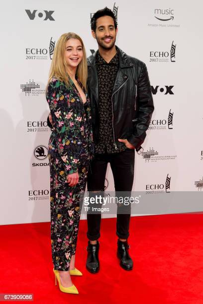 LisaMarie Koroll and Sami Slimani on the red carpet during the ECHO German Music Award in Berlin Germany on April 06 2017
