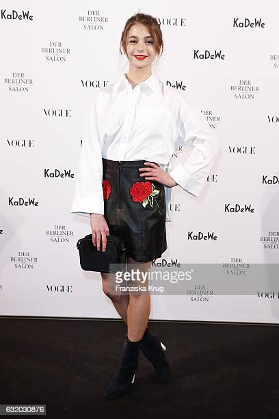 LisaMarie Koroll attends the celebration of 'Der Berliner Mode Salon' by KaDeWe Vogue at KaDeWe on January 18 2017 in Berlin Germany