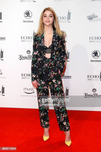 LisaMarie Koroll attends the Echo award red carpet on April 6 2017 in Berlin Germany