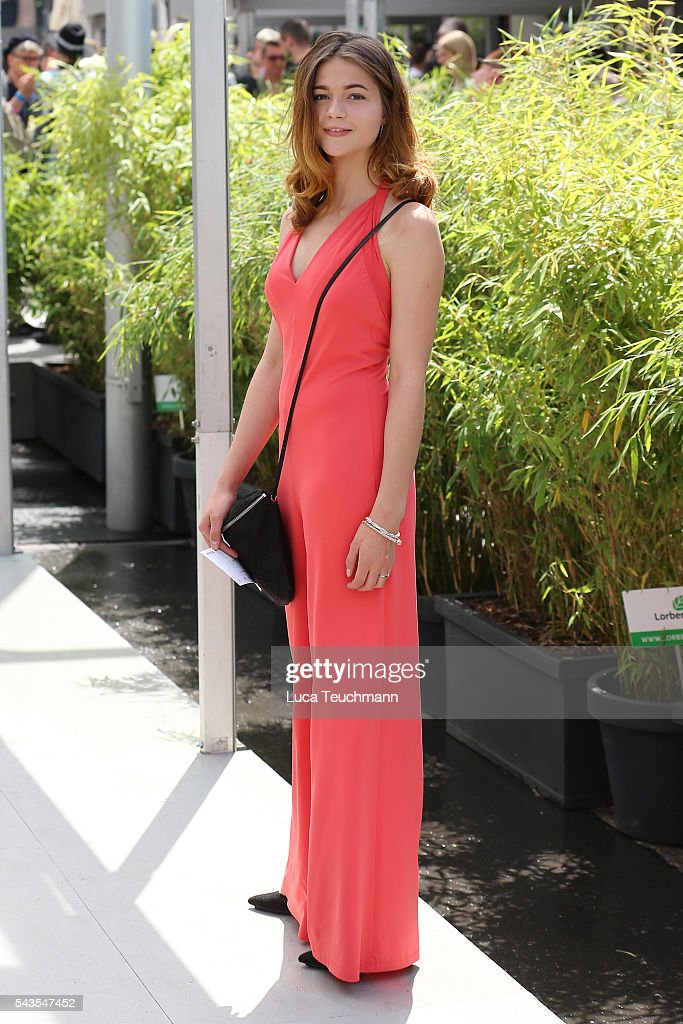Lisa-Marie Koroll attends the Minx by Eva Lutz show during the Mercedes-Benz Fashion Week Berlin Spring/Summer 2017 at Erika Hess Eisstadion on June 29, 2016 in Berlin, Germany.