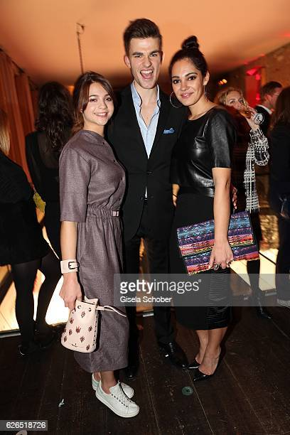 LisaMarie Koroll Patrick Moelleken and Nilam Farroq during the New Faces Award Style 2016 at 'The Grand' on November 16 2016 in Berlin Germany