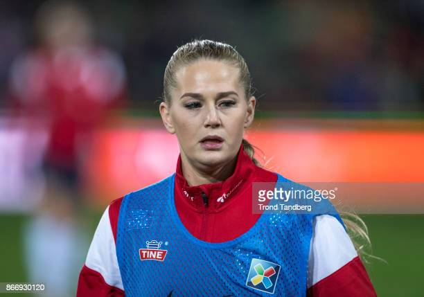 LisaMarie Utland of Norway during the FIFA 2018 World Cup Qualifier between Netherland and Norway at Noordlease Stadion on October 24 2017 in...