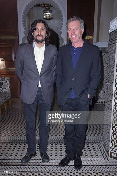 Lisandro Alonso and Bruno Dumont attend the diner of the tribute to d'isabelle adjani during the 16th Marrakech International Film Festival Day Eight...