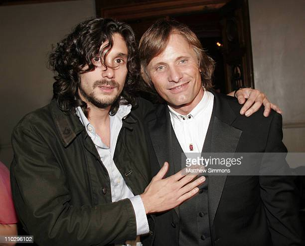 Lisandro Alonso and Viggo Mortensen during 31st Annual Toronto International Film Festival Latin Party at Crystal Party in Toronto Canada
