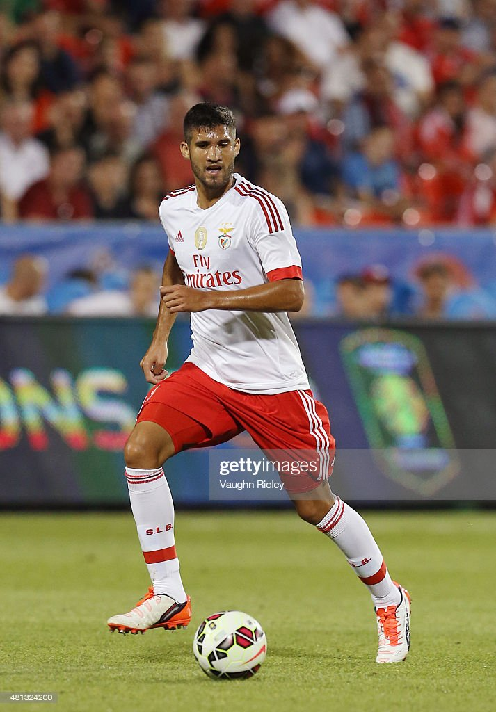 <a gi-track='captionPersonalityLinkClicked' href=/galleries/search?phrase=Lisandro+Lopez&family=editorial&specificpeople=801562 ng-click='$event.stopPropagation()'>Lisandro Lopez</a> #2 of Benfica in action during the 2015 International Champions Cup match against Paris Saint-Germain at BMO Field on July 18, 2015 in Toronto, Ontario, Canada.