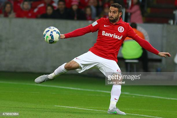 Lisandro Lopez of Internacional during the match between Internacional and AtleticoMG as part of Brasileirao Series A 2015 at Estadio BeiraRio on...