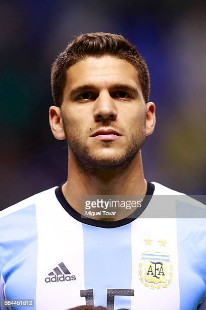 Lisandro Magallan of Argentina looks on prior an U23 International Friendly between Mexico and Argentina at Cuauhtemoc Stadium on July 28 2016 in...