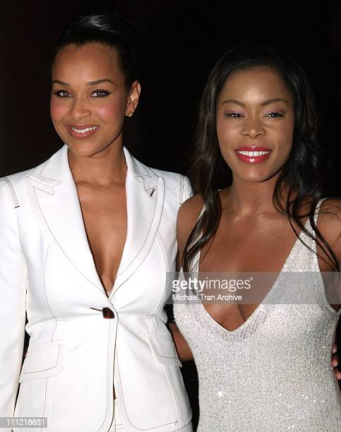 LisaRaye and Golden Brooks during 16th Annual NAACP Theatre Awards Arrivals at Director's Guild of America in Los Angeles California United States
