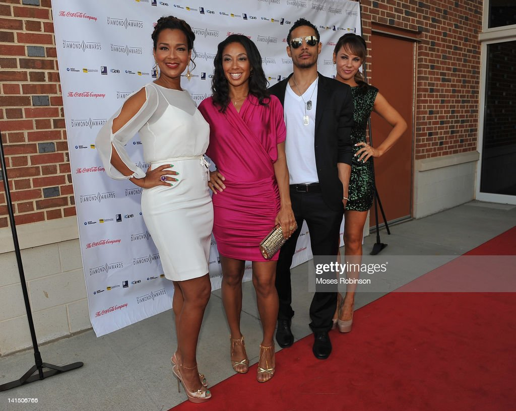 LisaRaye McCoy, Travis Winfrey and Charity Shea the Not Alone Foundation Second Biennial Diamond Awards at Morehouse College Ray Charles Performing Arts Center on March 17, 2012 in Atlanta, Georgia.