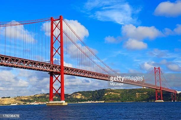 Lisbon 25th abril bridge Tagus river Portugal