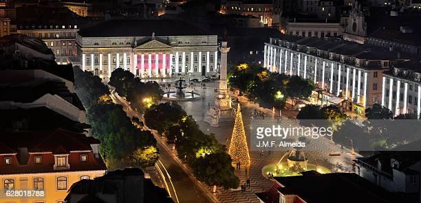 Lisbon - Christmas tree at Rossio square.