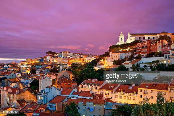 Lisbon, Old Town at Dusk