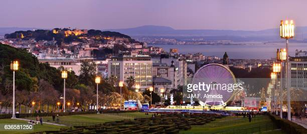 Lisbon Panorama with a Giant Wheel