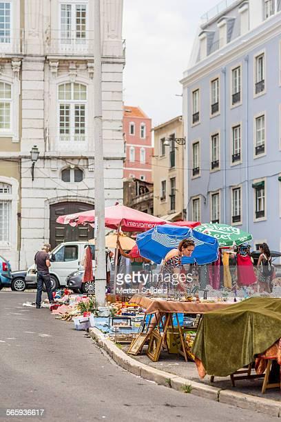 Lisbon's flea market Feira da Ladra