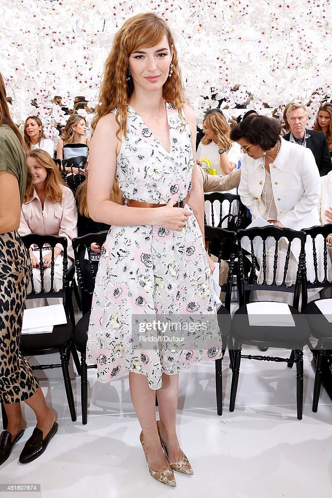 Lise Bourgoin attends the Christian Dior show as part of Paris Fashion Week - Haute Couture Fall/Winter 2014-2015. Held at Musee Rodin on July 7, 2014 in Paris, France.