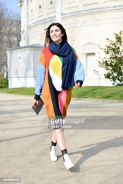 Lise Grendene arrives at the Moncler Gamme Rouge show on Day 9 of Paris Fashion Week Womenswear FW15 on March 11 2015 in Paris France