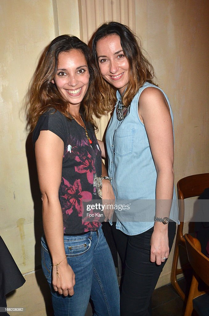 Lise Schreiber and Elodie Darmon attend the 'Speakeasy' Party At The Lefty Bar Restaurant on May 6, 2013 in Paris, France.