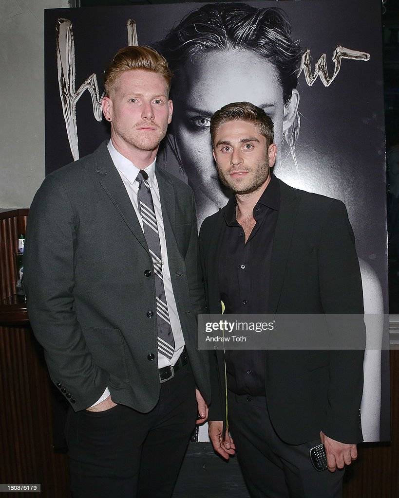 Lisle Richards and Eric Marx attend the Interview Magazine's Model Issue Party at Monarch on September 10, 2013 in New York City.