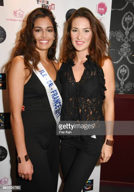 Lison Di Martino Miss ile de France 2017 and Miss France 2015 Fanny Harcaut attend the 'Souffle de Violette' Auction Party As part of 'Octobre Rose'...