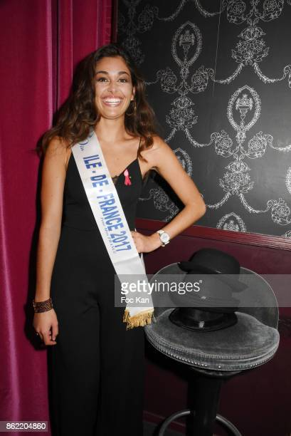 Lison Di Martino Miss ile de France 2017 attends the 'Souffle de Violette' Auction Party As part of 'Octobre Rose' Hosted by Ereel at Fidele Club on...
