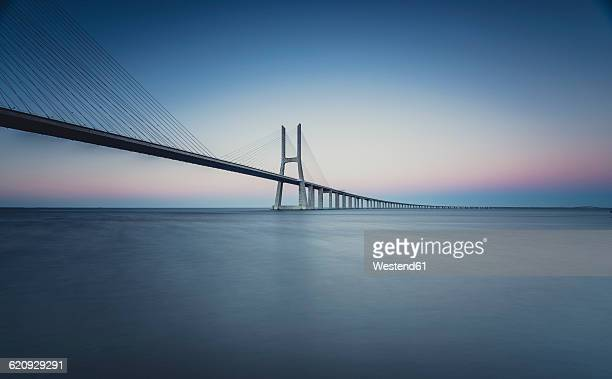 Lissboa, Vasco da Gama bridge in the morning