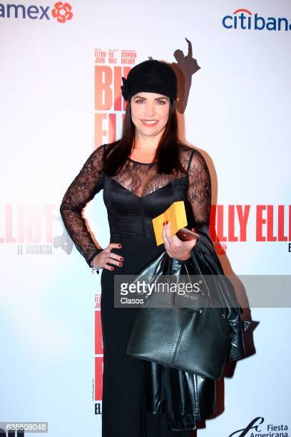 Lisset poses for the camera during the opening night of Billy Elliot Music Show on February 15 2017 in Mexico City Mexico