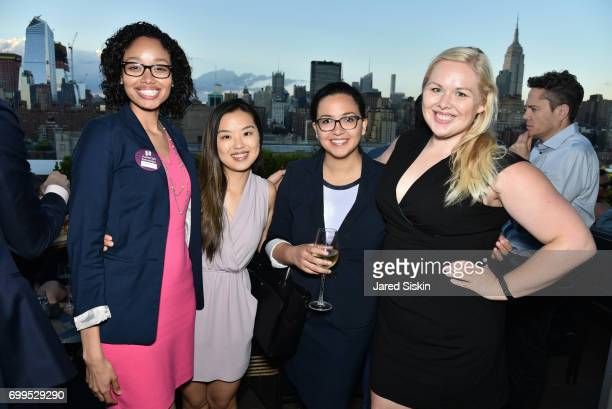 Lissette Duran Esther Kim Edely Rivera and Lauren Biksacky attend The Junior Board of The TEAK Fellowship Presents A Midsummer Night at PhD Lounge at...