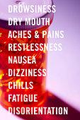 List of side effects.