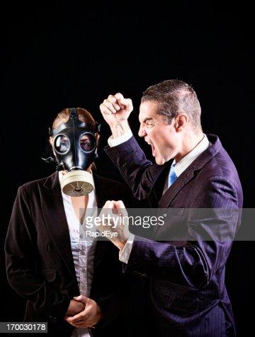 Guy In Mask Furious Masturbation