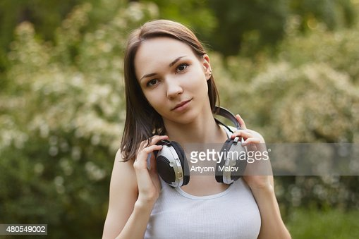 Listening music : Stock Photo