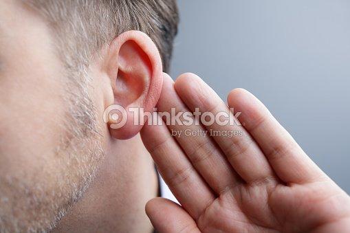 Listening : Stock Photo