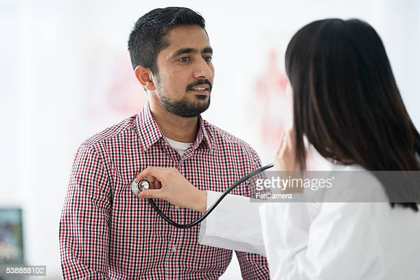 Listening to a Patients Heartbeat