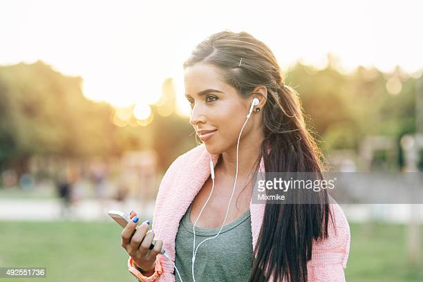 Listening to music during workout