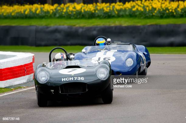 ListerJaguar 'Flat Iron' and in the Scott Brown Trophy race during the 75th Member's Meeting at Goodwood on March 18 2017 in Chichester England