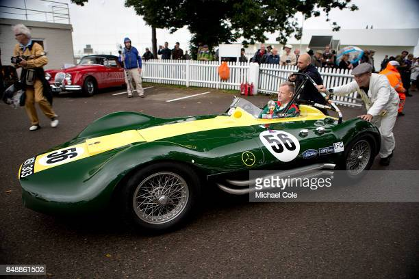 ListerMaserati entrant JD Classics driven by Nick Riley in the Madgwick Cup at Goodwood on September 8th 2017 in Chichester England