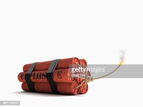 Lit bundle of dynamite