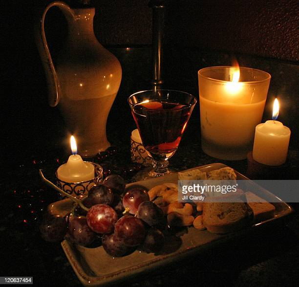 Lit by candle light