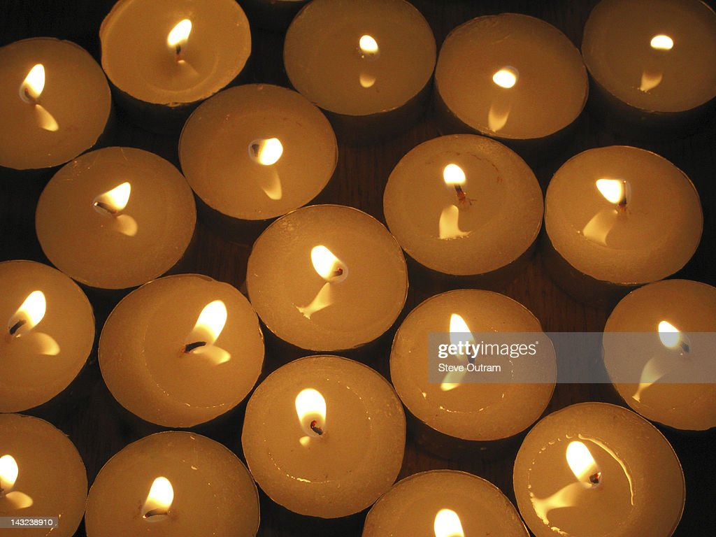 Lit candles : Stock Photo