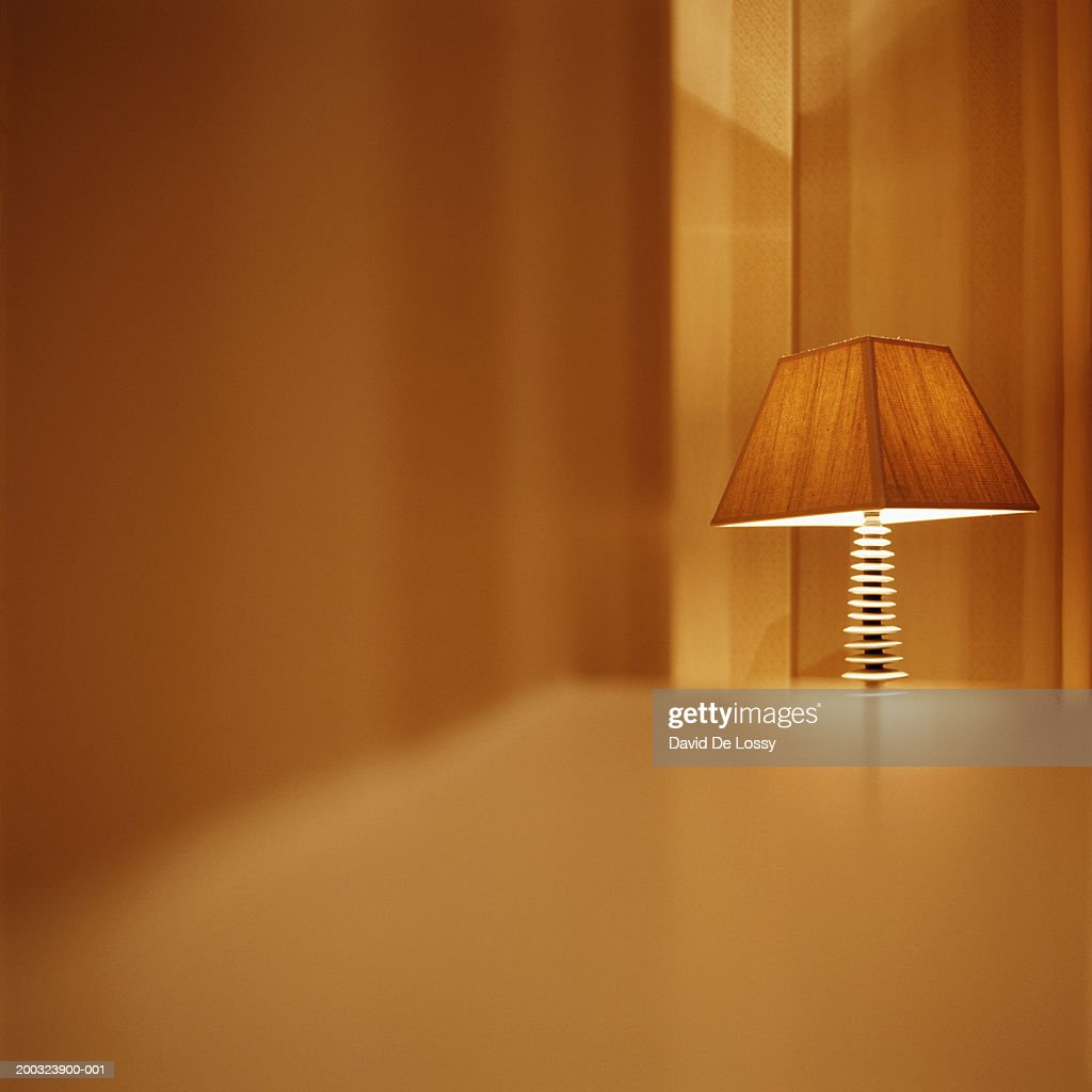 Lit electric lamp : Stock Photo