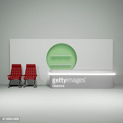 Lit interior mockup 3d illustration : Stock Photo