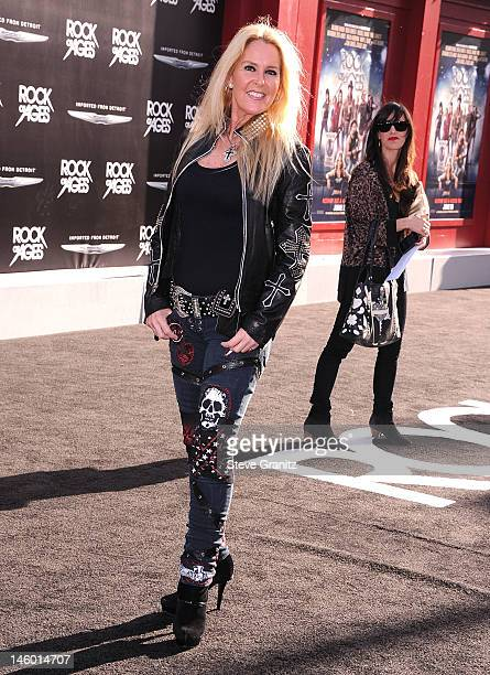 Lita Ford arrives at the 'Rock Of Ages' Los Angeles Premiere at Grauman's Chinese Theatre on June 8 2012 in Hollywood California