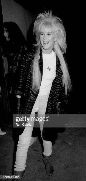 Lita Ford attends John McEnroe Birthday Party on February 17 1986 at On The Rox in Hollywood California