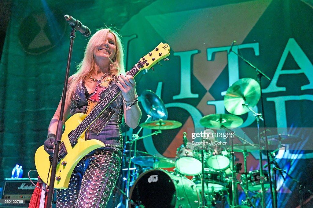 Lita Ford performs at Mercury Ballroom on December 16, 2016 in Louisville, Kentucky.