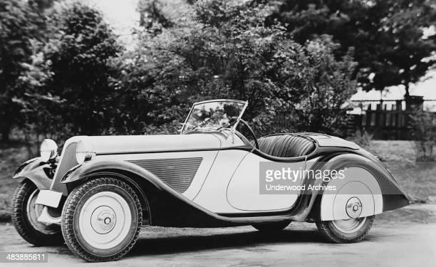 BMW 15 liter sports car convertible Munich Germany 1937