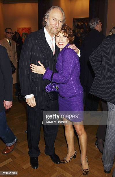 Literary agent Ed Victor and Cathy Letts attend the Private View for 'The Triumph Of Painting' at the Saatchi Gallery County Hall on January 25 2005...
