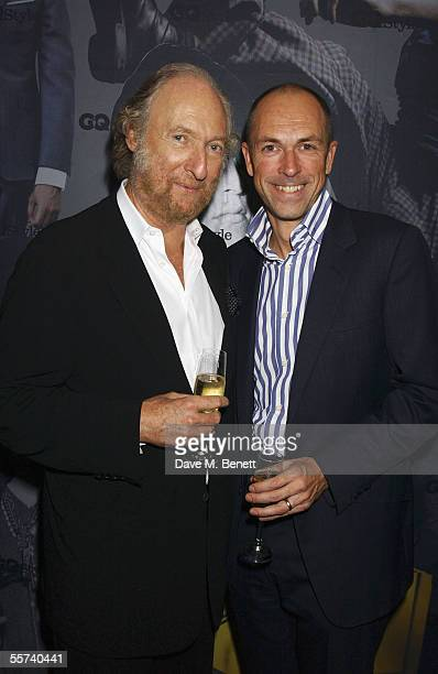 Literary agent Ed Victor and GQ Editor Dylan Jones attends the GQ Style Magazine Launch Party celebrating Conde Nast's first issue of biannual...
