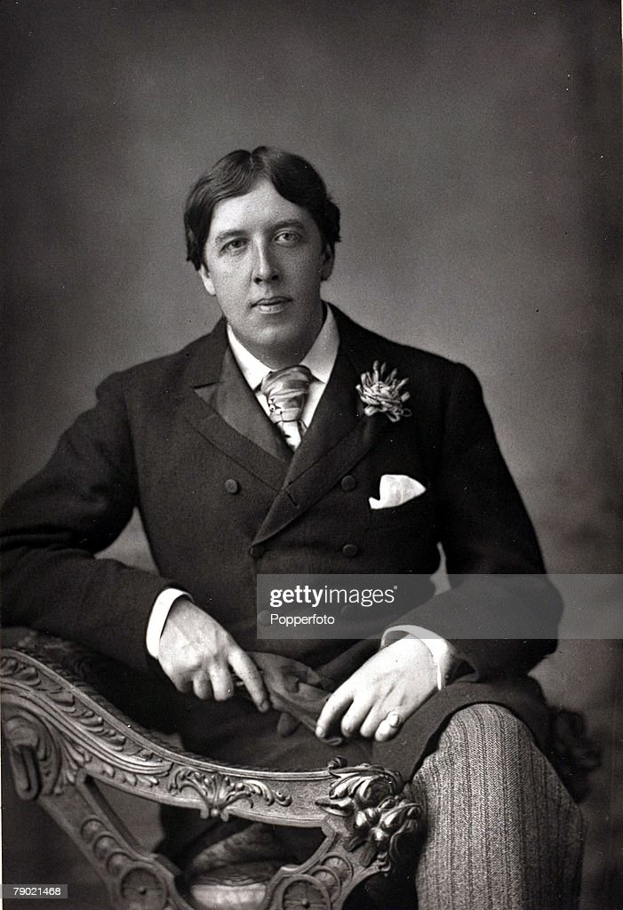 Literature, 19th Century, A portrait of <a gi-track='captionPersonalityLinkClicked' href=/galleries/search?phrase=Oscar+Wilde&family=editorial&specificpeople=240419 ng-click='$event.stopPropagation()'>Oscar Wilde</a>, (1854-1900) the Irish dramatist and master of the social comedy, Among his many acclaimed works were 'The Importance of Being Earnest' and 'Lady Windermere's Fan', He was a controversial figure and in 1895 was imprisoned after being convicted of homosexual practices, His death in 1900 saw him in exile and poverty