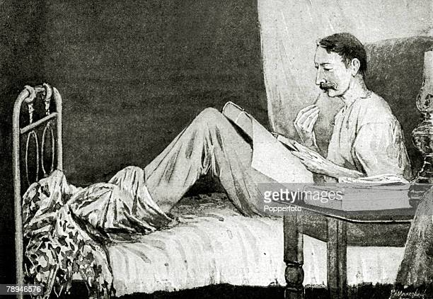 Literature Illustration from the Illustrated London News from 1894 pic 1894 Robert Louis Stevenson Scottish writer of 'Treasure Island' and...